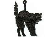 Black Dresden Cat Ornament (May Face Either Way)