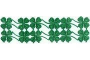 Sheet of 12 Metallic Green 4-Leaf Clover Dresdens