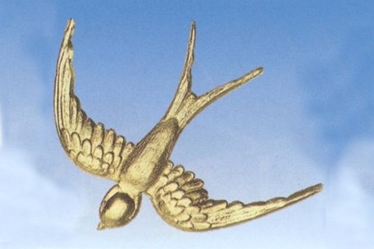 Double-Sided Golden Crow (or Swallow) Dresdens - Sheet of 15