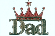 Golden Dresden DAD with a Crown with Red Accents - Package of 5