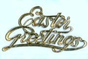 Package of 5 LARGE Golden Dresdens: Easter Greetings