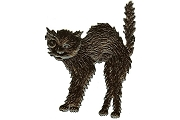 Black Dresden Hallowe'en Cat - Package of 3