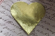 Vintage Golden Dresden Heart