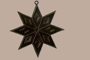 Double Sided Black Dresden Star Ornament Base