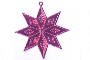 Double Sided PINK Dresden Star Ornament Base