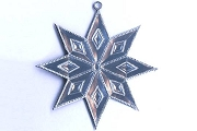Double Sided Silver Dresden Star Ornament Base