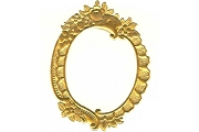 Fancy Floral Golden Dresden Frame