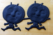 Matte Black Dresden Pumpkin Man - Package of 8