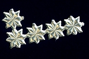Package of 5 Vintage Mini Golden Dresden Stars