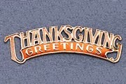 Package of 5 Golden Dresdens: Thanksgiving Greetings with Harvest Orange Accent