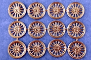 Package of 12 Double-Sided Golden Wheel Dresdens