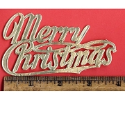 Golden Merry Christmas Die-Cut and Embossed Dresdens