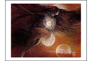 Raven's Love of Light Enclosure Card (Susan Seddon Boulet)