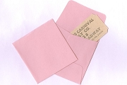 Mini 2-inch Pink Square Coin Envelopes - Package of 10