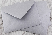 Package of 5 Silver Enclosure Envelopes