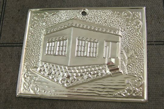 Large Tin Ex Voto of a House or Office