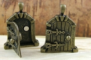 Charming Antique Bronze Castle Fairy Door Locket