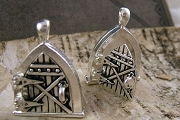 Charming Antiqued Silver Tree Fairy Door Locket
