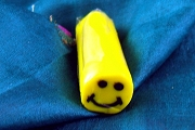 DIY Fimo Polymer Clay Roll or Stick - Happy Face - Yellow