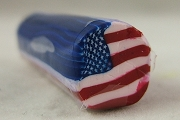 DIY Fimo Polymer Clay Roll or Stick - USA Flag