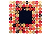Handmade Colorful Button Frame