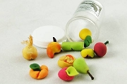 Set of 10 MINI Migajon Fruits for Ofrendas