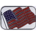 Elegantly Embossed Metallic Seals - USA Flag