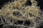 Package of 6+ feet of Vintage Golden Metal Lametta Tinsel Garland