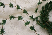 Awesome Wired Mini Ming Pine Garland - 14 feet<br>Hard to Find</b>