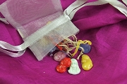 Grab Bag of 5 Assorted VINTAGE Glass Charms