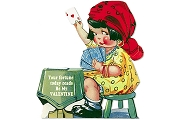 Greeting Card: Old-Fashioned mechanical Valentine - Gypsy Card Reader