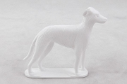 Vintage White Plastic Greyhound