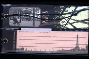 Package of 2 Vintage-Style Gift Tags: PARIS