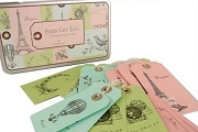 36  Paris Gift Tags in Reusable Tin