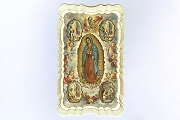 Exquisite Our Lady of Guadalupe <br> and St Juan Diego Holy Card