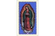 Our Lady of Guadalupe ENGLISH Holy Cards - Package of 5