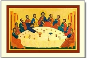 Icon Style Holy Cards - The Secret of the Meal (Last Supper) - Package of 5