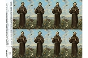 Sheet of 8 Micro-Perforated Holy Cards: St Francis of Assisi - Print Your Own Prayer!