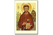 St Francis of Assisi Icon Holy Cards - Package of 5