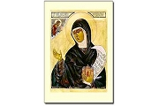 Icon Style Holy Cards - Saint Hildegard von Bingen - Package of 5