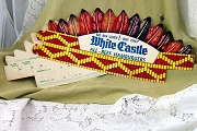 Vintage White Castle Native American Indian Headdress for Kids or Adults