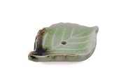 Artisan Made Ceramic Leaf Incense Burner