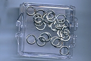 Little Box of 25 Silver Jump Rings