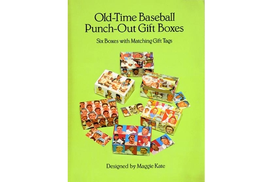 Old-Time Baseball Punch-Out Gift Boxes