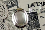 Silver Setting for 40mm by 30mm Cabochon AND Acrylic Magnifying Cabochon Set