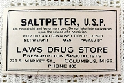 5 Vintage Gummed Saltpeter Labels - Cut to Order