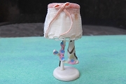 Vintage Miniature Dollhouse Lamp with Bird Motif