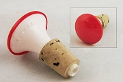 Old Fashioned Red Laundry Sprinkler with Cork Fitting
