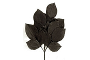 Vintage Hand Made Black Silken Leaf Cluster