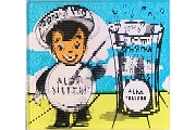 Vintage Lenticular Alka Seltzer Advertising Square